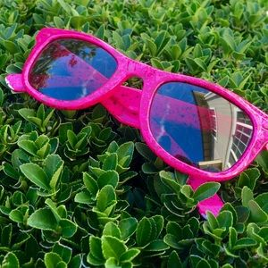 Made in France • Pink Paint Speckled Sunglasses